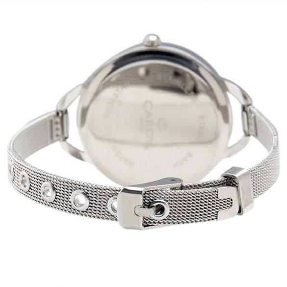 Cardy női fémszíjas quartz karóra, ezüst színű szíj és tok, ezüst színű számlap
