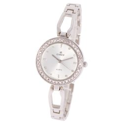 Cardy női ékszeróra, quartz, ezüst színű tok és csat, fehér színű számlap