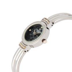 Cardy női ékszeróra, quartz, ezüst színű tok, ezüst színű fémcsat, fekete számlap