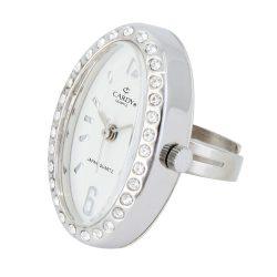 Cardy gyűrűóra, quartz, ezüst színű tok és gyűrű, fehér számlap