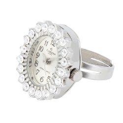 Cardy gyűrűóra, quartz, ezüst színű tok és gyűrű, ezüst számlap