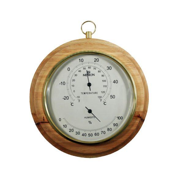 Merion fa fali hőmérő, páratartalom mérővel