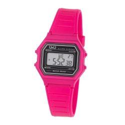 Q&Q gyereknek ajánlott karóra, rózsaszín tok és szíj, LCD kijelzés, M173J017Y