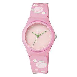 Q&Q női karóra, quartz, rózsaszín színű tok, rózsaszín figurás szíj, rózsaszín számlap, VQ86J069Y