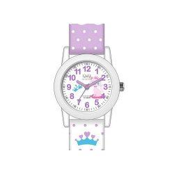 Q&Q gyerekóra, quartz, műanyag, lila és fehér színű, VR99J806Y