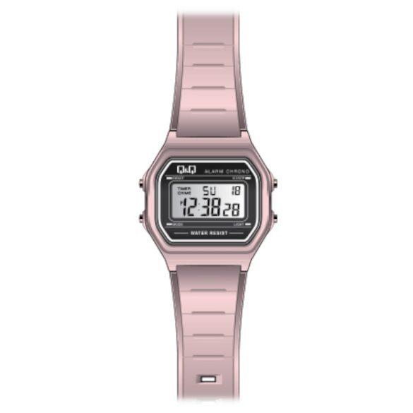Q&Q női műanyag karóra, quartz/LCD, rózsaszín színű, M173J018Y