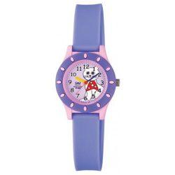Q&Q gyerek műanyag karóra, quartz, rózsaszín és lila tok és szíj, rózsaszín számlap, VQ13J010Y