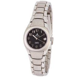 ASTRON 5059-1 divatos női karóra, ezüst színű nemesacél tok, ezüst színű nemesacél csat, arab számos fekete számlap, zafírüveg üveges, quartz szerkezet, 50 m (5 ATM) vízállóság
