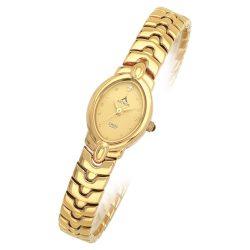 ASTRON 5075-9 női karóra, arany színű fém tok, arany színű fémcsat, arany színű számlap, keményített ásványüveg, quartz szerkezet, cseppmentes vízállóság