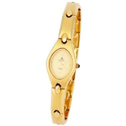 ASTRON 5077-9 női karóra, ékszeróra, arany színű fém tok, arany színű fémcsat, arany színű számlap, keményített ásványüveg, quartz szerkezet, cseppmentes vízállóság