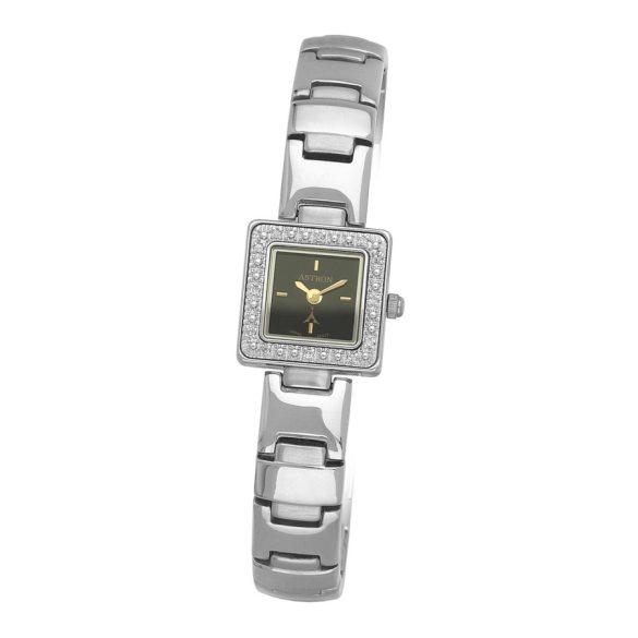 ASTRON 5113-1 analóg női karóra, ezüst színű fém tok, ezüst színű fém szíj/csat, fekete számlap, keményített ásványüveg, quartz szerkezet, cseppmentes vízállóság