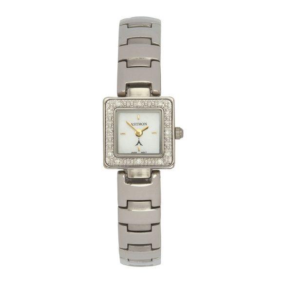 ASTRON 5113-7 női karóra, ezüst színű fém tok, ezüst színű fémcsat, fehér számlap, keményített ásványüveg, quartz szerkezet, cseppmentes vízállóság