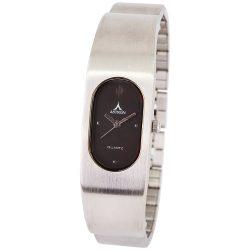 ASTRON 5132-1 divatos női karóra, ezüst színű fém tok, ezüst színű fémcsat, fekete számlap, keményített ásványüveg, quartz szerkezet, cseppmentes vízállóság