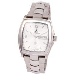 ASTRON 5141-7 divatos férfi karóra, ezüst színű nemesacél tok, ezüst színű nemesacél csat, ezüst színű számlap, keményített ásványüveg, quartz szerkezet, 50 m (5 ATM) vízállóság