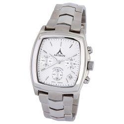 ASTRON 5142-7 divatos férfi karóra, ezüst színű nemesacél tok, ezüst színű nemesacél csat, ezüst színű számlap, keményített ásványüveg, quartz szerkezet, 50 m (5 ATM) vízállóság
