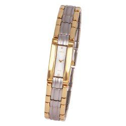 ASTRON 5176-5 női karóra, ékszeróra, bicolor nemesacél tok, bicolor fémcsat, ezüst színű számlap, keményített ásványüveg, quartz szerkezet, cseppmentes vízállóság