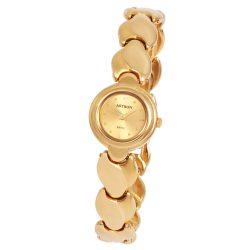 ASTRON 5181-9 női karóra, arany színű nemesacél tok, arany színű fémcsat, arany színű számlap, keményített ásványüveg, quartz szerkezet, cseppmentes vízállóság