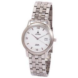 ASTRON 5202-7 férfi karóra, ezüst színű fém tok, ezüst színű fémcsat, fehér számlap, keményített ásványüveg, quartz szerkezet, cseppmentes vízállóság