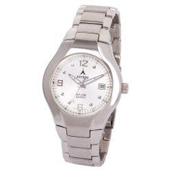 ASTRON 5229-8 férfi karóra, ezüst színű nemesacél tok, ezüst színű nemesacél csat, ezüst színű számlap, keményített ásványüveg, quartz szerkezet, 50 m (5 ATM) vízállóság