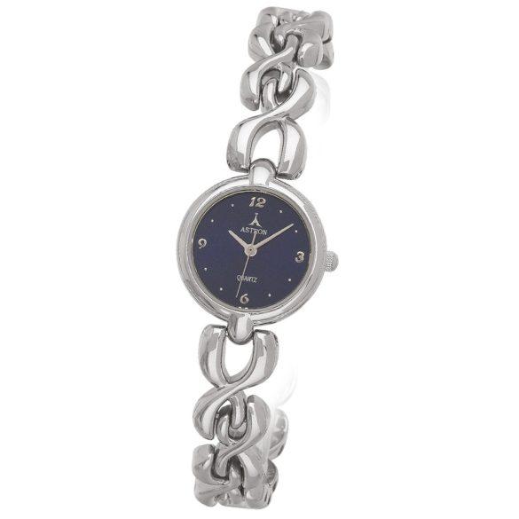 ASTRON 5250-2 női karóra, ezüst színű fém tok, ezüst színű fémcsat, kék számlap, keményített ásványüveg, quartz szerkezet, cseppmentes vízállóság