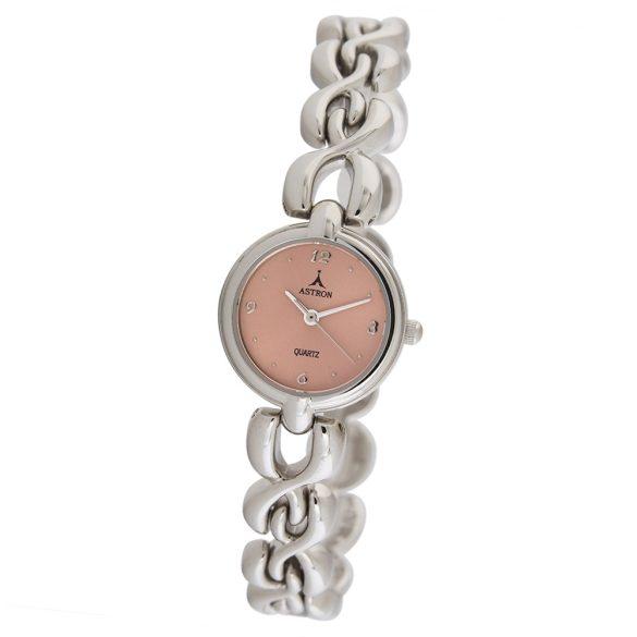 ASTRON 5250-4 analóg női karóra, ezüst színű fém tok, ezüst színű fém szíj/csat, rózsaszín számlap, keményített ásványüveg, quartz szerkezet, cseppmentes vízállóság