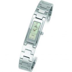 ASTRON 5256-7 női karóra, ezüst színű fém tok, ezüst színű fémcsat, fehér számlap, keményített ásványüveg, quartz szerkezet, cseppmentes vízállóság