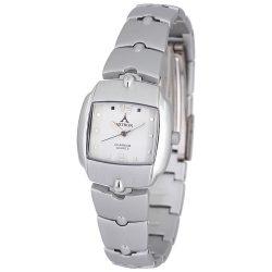 ASTRON 5260-7 divatos női karóra, ezüst színű alumínium tok, ezüst színű alumínium csat, arab számos fehér számlap, keményített ásványüveg, quartz szerkezet, cseppmentes vízállóság