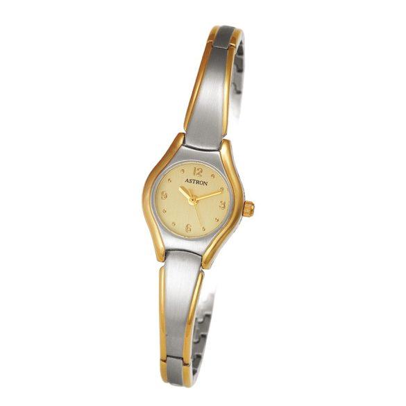 ASTRON 5284-5 női karóra, bicolor színű fém tok, bicolor fémcsat, pezsgőszínű számlap, keményített ásványüveg, quartz szerkezet, 50 m (5 ATM) vízállóság