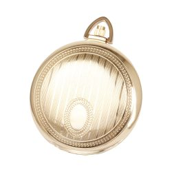 Astron zsebóra, arany színű tok és lánc, fehér számlap, arab számok