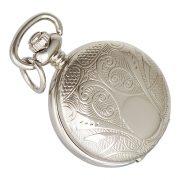 Astron női nyakláncóra, quartz, ezüst színű tok (mintázott), arab számos, 26 mm