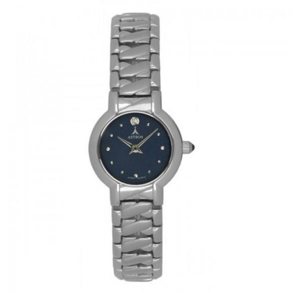 ASTRON 5437-2 női karóra, ezüst színű nemesacél tok, ezüst színű fémcsat, kék számlap, keményített ásványüveg, quartz szerkezet, cseppmentes vízállóság