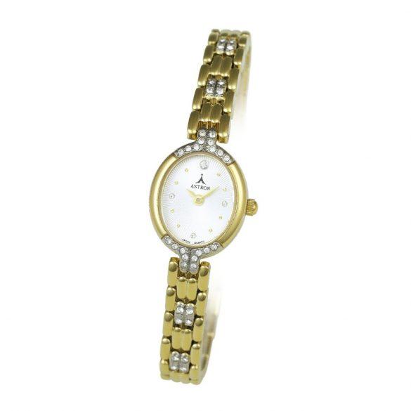 ASTRON 5448-7 női karóra, arany színű fém tok, arany színű fémcsat, fehér számlap, keményített ásványüveg, quartz szerkezet, cseppmentes vízállóság
