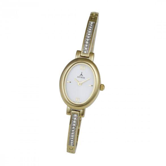 ASTRON 5467-7 női karóra, arany színű fém tok, arany színű fémcsat, fehér számlap, keményített ásványüveg, quartz szerkezet, cseppmentes vízállóság