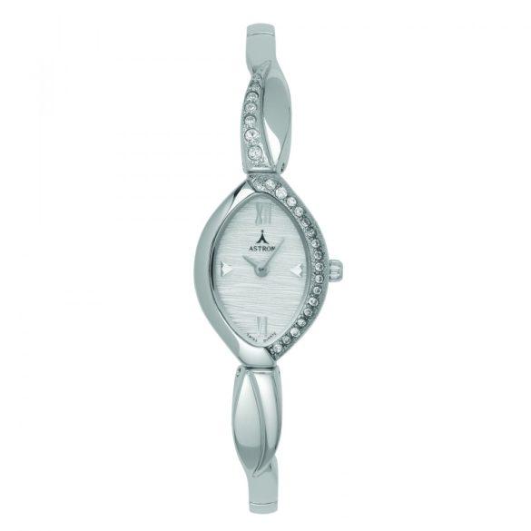 ASTRON 5480-8 analóg női karóra, ezüst színű fém tok, ezüst színű fém szíj/csat, ezüst színű számlap, keményített ásványüveg, quartz szerkezet, cseppmentes vízállóság