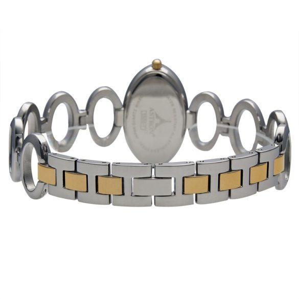 ASTRON 5500-7 női karóra, ékszeróra, bicolor nemesacél tok, bicolor nemesacél csat, fehér számlap, keményített ásványüveg, quartz szerkezet, cseppmentes vízállóság