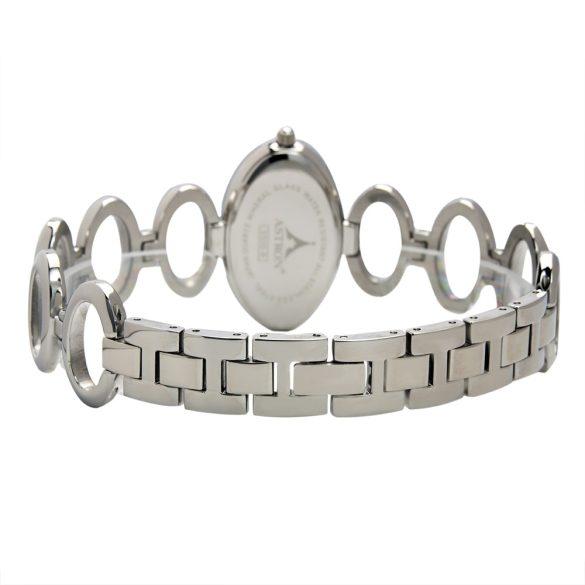 ASTRON 5500-8 analóg ékszeróra|női karóra, ezüst színű nemesacél tok, ezüst színű nemesacél szíj/csat, fehér számlap, keményített ásványüveg, quartz szerkezet, cseppmentes vízállóság