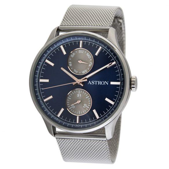 ASTRON 5501-0 férfi karóra, ezüst színű nemesacél tok, ezüst színű nemesacél csat, kék számlap, keményített ásványüveg, quartz szerkezet, 50 m (5 ATM) vízállóság