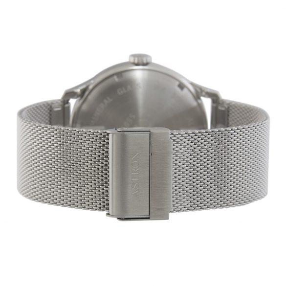 ASTRON 5501-5 analóg férfi karóra, ezüst színű nemesacél tok, ezüst színű nemesacél szíj/csat, szürke számlap, keményített ásványüveg, multifunkciós|quartz szerkezet, 50 m (5 ATM) vízállóság