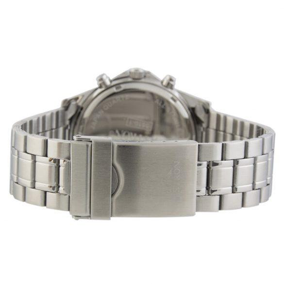 ASTRON 5510-1 sportos férfi karóra, ezüst színű nemesacél tok, ezüst színű nemesacél csat, fekete számlap, keményített ásványüveg, multifunkciós quartz szerkezet, 50 m (5 ATM) vízállóság
