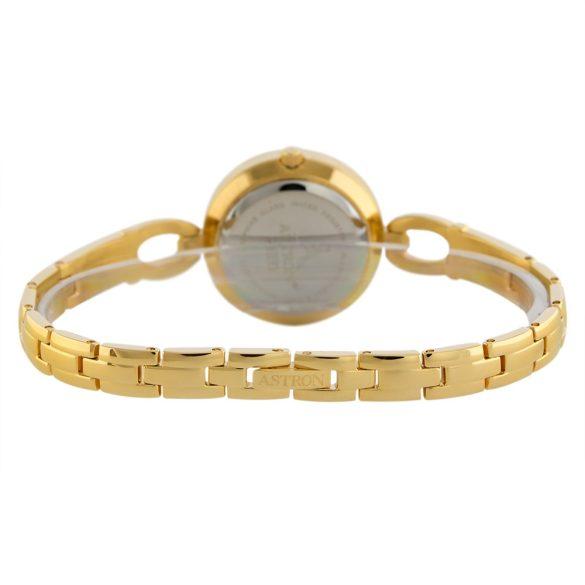ASTRON 5513-8 női karóra, ékszeróra, ezüst színű nemesacél tok, ezüst színű nemesacél csat, fehér számlap, zafírüveg, quartz szerkezet, cseppmentes vízállóság