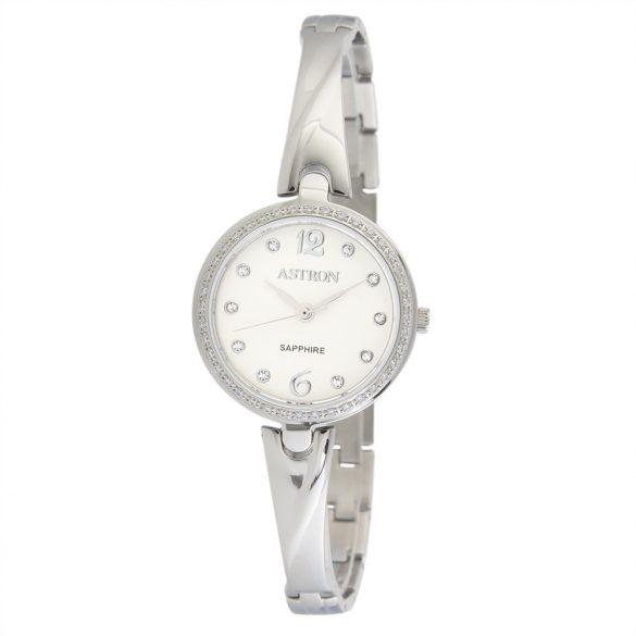 ASTRON 5514-7 női karóra, ékszeróra, ezüst színű nemesacél tok, ezüst színű nemesacél csat, fehér számlap, zafírüveg, quartz szerkezet, cseppmentes vízállóság