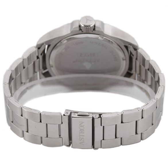 ASTRON 5517-2 férfi karóra, ezüst színű nemesacél tok, ezüst színű nemesacél csat, kék számlap, keményített ásványüveg, quartz szerkezet, 100 m (10 ATM) vízállóság