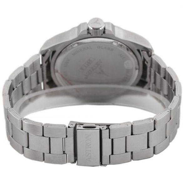 ASTRON 5517-5 férfi karóra, ezüst színű nemesacél tok, ezüst színű nemesacél csat, barna számlap, keményített ásványüveg, quartz szerkezet, 100 m (10 ATM) vízállóság