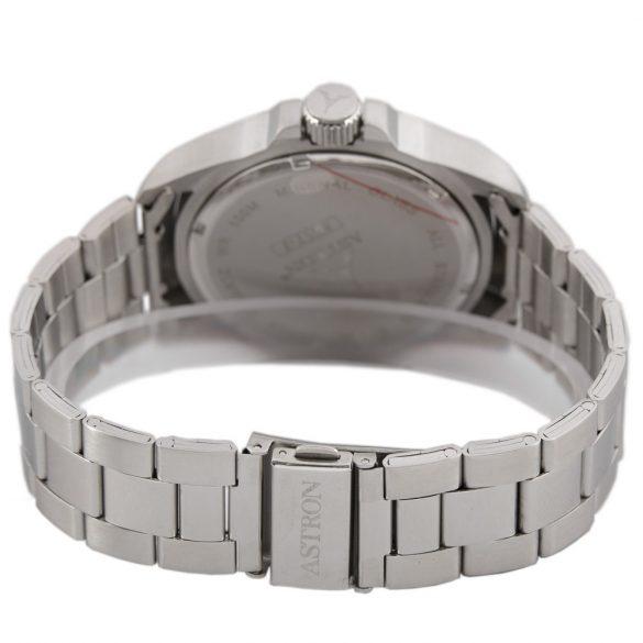 ASTRON 5517-7 férfi karóra, ezüst színű nemesacél tok, ezüst színű nemesacél csat, ezüst színű számlap, keményített ásványüveg, quartz szerkezet, 100 m (10 ATM) vízállóság