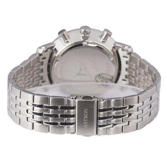 ASTRON 5520-2 férfi karóra, ezüst színű nemesacél tok, ezüst színű nemesacél csat, ezüst színű számlap, keményített ásványüveg, quartz szerkezet, 50 m (5 ATM) vízállóság