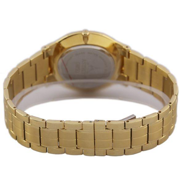 ASTRON 5527-8 férfi karóra, arany színű nemesacél tok, arany színű nemesacél csat, fehér számlap, zafír, quartz szerkezet, cseppmentes vízállóság
