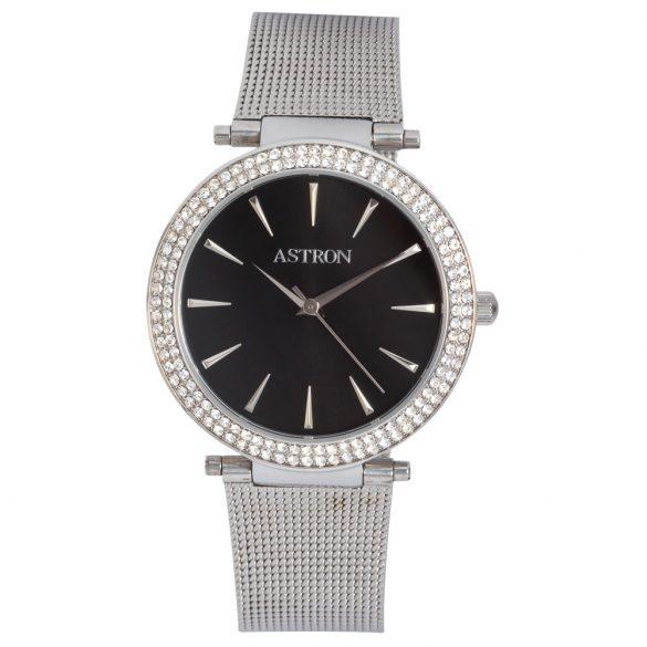 ASTRON 5535-1 női karóra, ezüst színű nemesacél tok, ezüst színű nemesacél csat, fekete számlap, keményített ásványüveg, quartz szerkezet, cseppmentes vízállóság