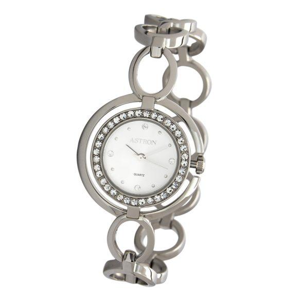 ASTRON 5539-7 női karóra, ezüst színű nemesacél tok, ezüst színű nemesacél csat, ezüst színű számlap, keményített ásványüveg, quartz szerkezet, cseppmentes vízállóság