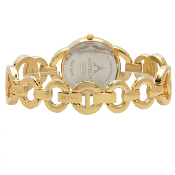 ASTRON 5545-0 női karóra, arany színű nemesacél tok, arany színű nemesacél csat, fehér számlap, keményített ásványüveg, quartz szerkezet, cseppmentes vízállóság