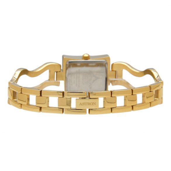 ASTRON 5547-7 női karóra, arany színű nemesacél tok, arany színű nemesacél csat, fehér számlap, keményített ásványüveg, quartz szerkezet, cseppmentes vízállóság
